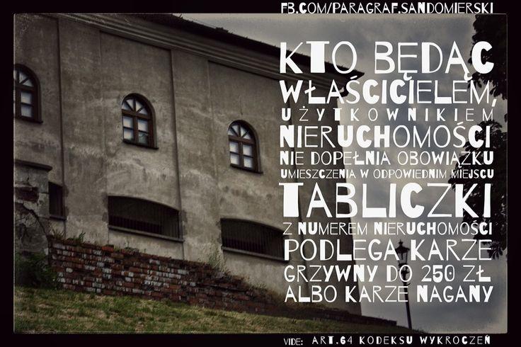 Obowiązek oznaczania nieruchomości adwokat Grzegorz Sarzyński z Tarnobrzega tel. 662742432 www.adwokat-sarzynski.pl Sandomierz Stalowa Wola Nisko Mielec Nowa Dęba