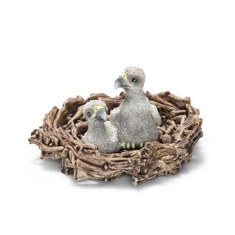 __Baby eagles in nest__Schleich Figurine available at Fantaztic Learning Store Canada - shop.fantazticcatalog.com