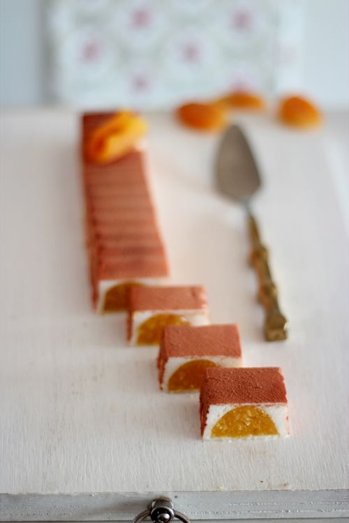 ... yogurt mousse and apricots gelee ...