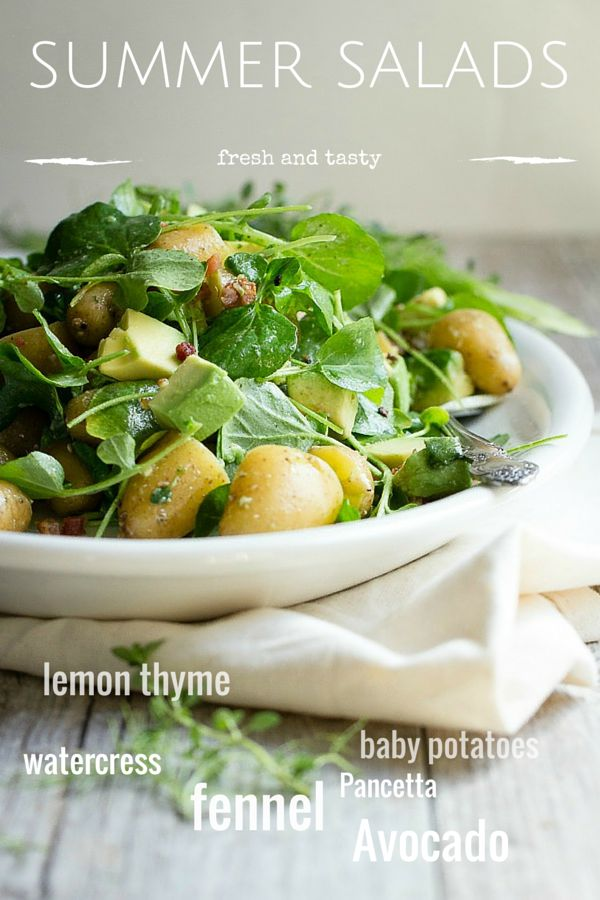 avocado & potato salad.- a fresh new side . Will try this!