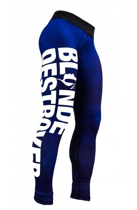 Blonde Destroyer Women's fitness leggings/ gym tights /sport pants size M Blue