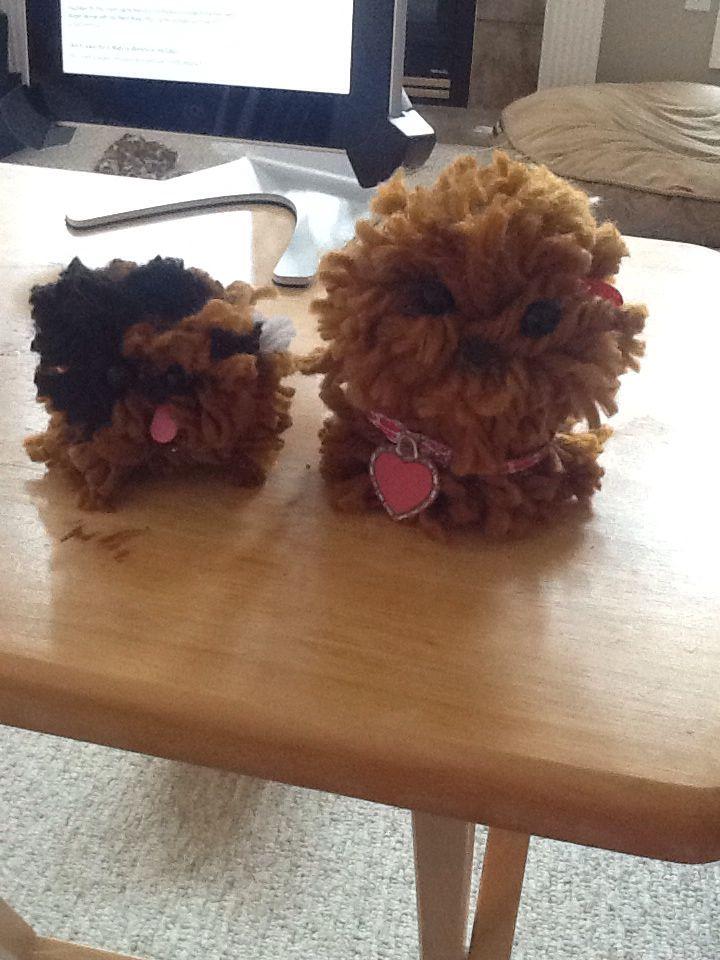 Pom Pom puppies I made
