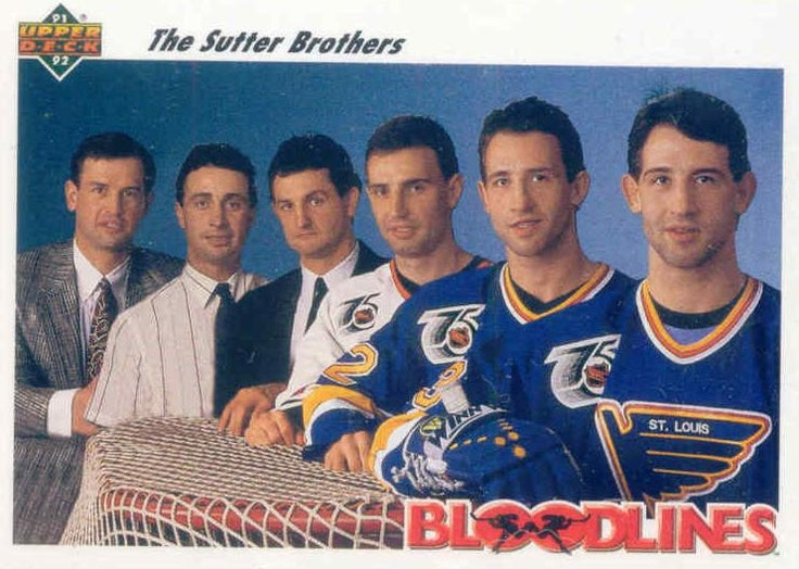 The Sutter brothers: Brian, Duane, Darryl, Brent, Rich and Ron.