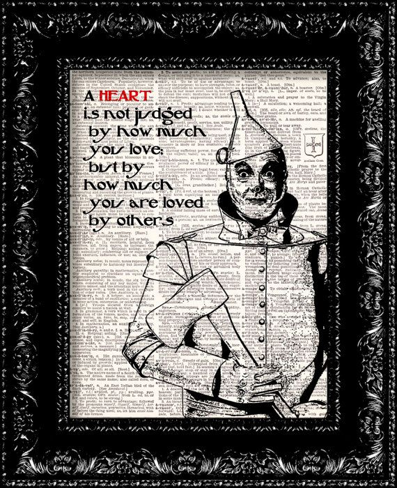 Wizard Of Oz  Tin Man Heart Quote  Dictionary by TheRekindledPage, $8.98
