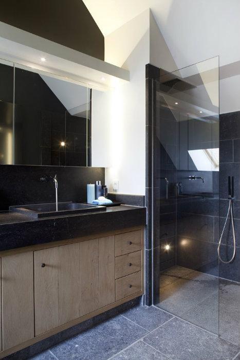 17 beste idee n over rustieke douche op pinterest stenen douche betonnen douche en cabine - Rustieke badkamer meubels ...