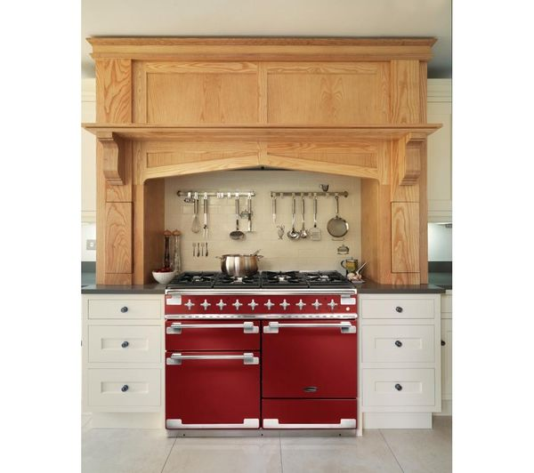 Buy RANGEMASTER Elise 110 Dual Fuel Range Cooker - Cherry Red & Chrome   Free Delivery   Currys