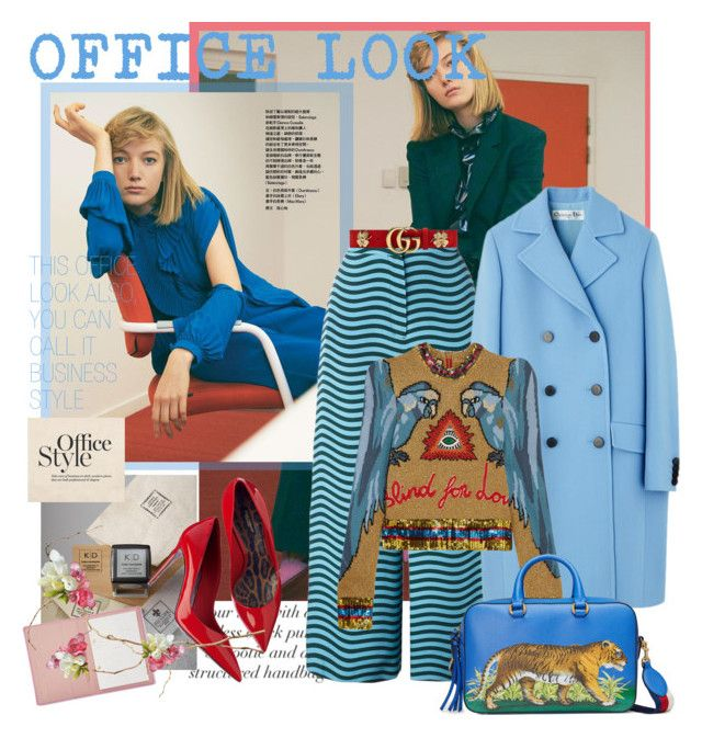 """OFFICE LOOK"" by mariapia65 ❤ liked on Polyvore featuring Fendi, Gucci, Three Designing Women, StudioSarah and officelook"