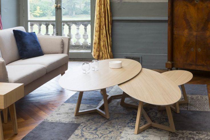 Mark French Designvous propose dedécouvrirl'esprit vintageet les fines courbes de lacollectionDISCO.  Les Tables basses ovales DISCOexistent en plusieurs hauteurs ce qui permet de les assort [...]