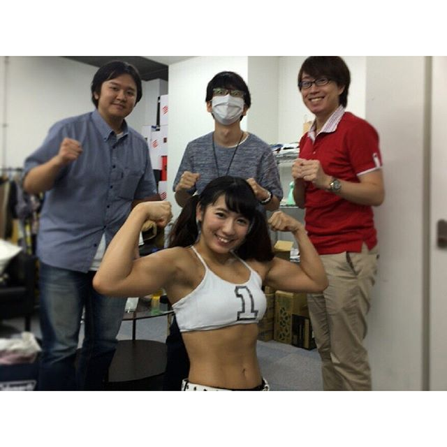 先日はニコ生「ICARUS ONLINEシャリング実装直前SP」ご視聴&コメントありがとうございました\(^o^)/ 共演者の皆さまと♬ #ニコ生 #icarus #筋肉アイドル #筋肉女子 #筋育 #筋肉 #muscle #training  2016/09/26 15:46:48
