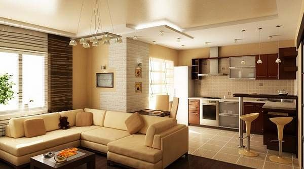modern small open plan kitchen living room design ideas zoning  Creative ideas for making a large and small open plan kitchen living room interior design ideas, with examples for open concept living-kitchen design combo images for inspiration.