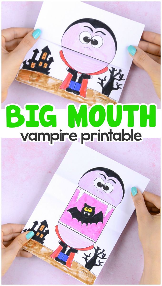 Surprise Big Mouth Vampire Printable Easy Peasy and Fun