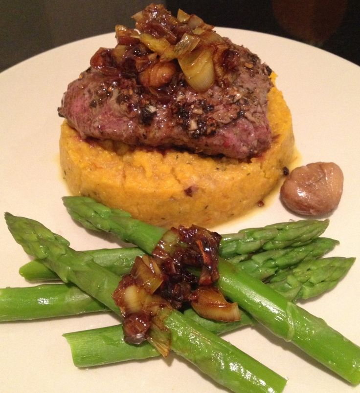 Bison au Poivre with Caramelised Leeks – The Foodee Project