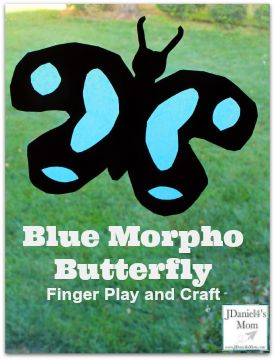 Blue Morpho Butterfly Finger Play and Craft