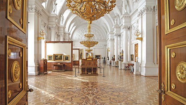 Winter Palace Interior, the Hermitage, St. Petersburg, Russia