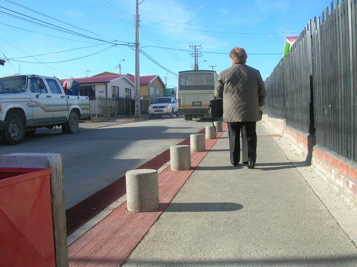 Mejoramiento calle Región Río Grande. Barrio Ríos Patagónicos. Punta Arenas 2009. Seremi Minvu región de Magallanes
