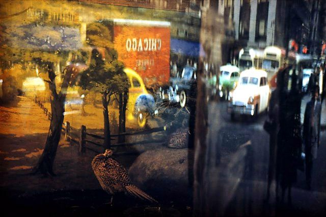 Ernst Haas New York | Reflection - 42nd Street, NY, 1952