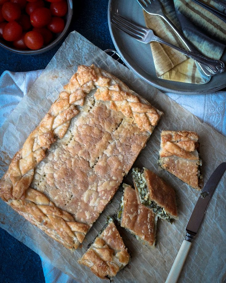 Flaky pastry and a delicious spinach and feta filling makes the perfect Spanakopita Pie. This gluten free version is close to perfection!