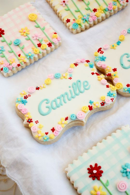 To customize cookies, write name on cookie and display in pretty dish or wrap in a lovely basket for the perfect gift