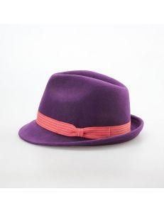 """Фетровая шляпа федора """"Vay"""" фиолетовая"""