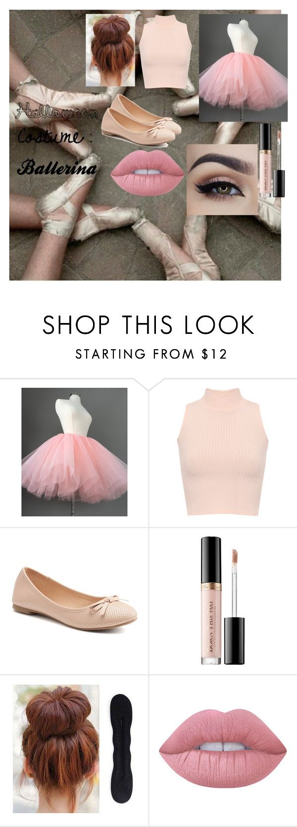 """Halloween Costume : Ballerina"" by sineadmurphy152 on Polyvore featuring WearAll, SO, Sephora Collection and Lime Crime"