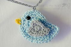 A Time For All Seasons: Lil' Bluebird ~ crochet pattern. This is the cutest ever little crocheted bird!