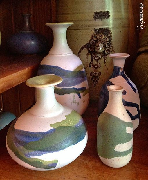 jarrones grandes de ceramica organica de gema ossenbach