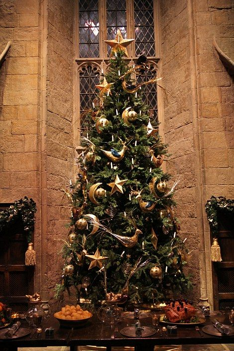 Over 150 moons and baubles went into the decoration of Christmas trees around the Great Hall