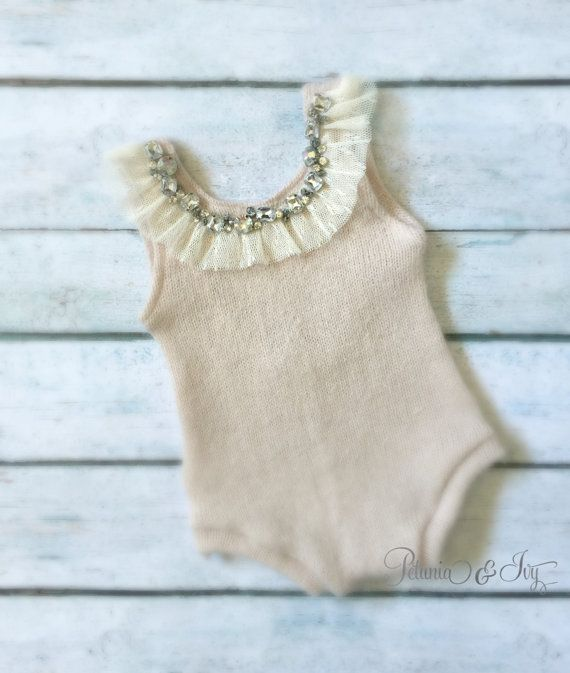 Newborn Natural Tank Romper baby girl neutral by PetuniaandIvy