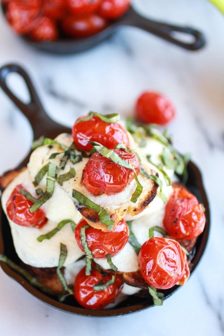 Blistered Tomato Grilled Toast Caprese Nachos with Balsamic Glaze || halfbakedharvest.com