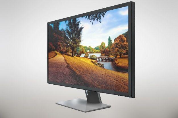 Free Expensive Modern Computer Monitor Mockup Expensive Modern
