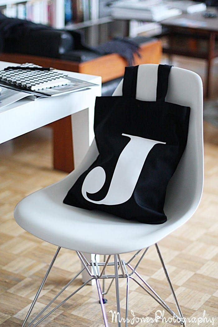 Mrs Jones | Eames Dsw | Letter J | Black and White