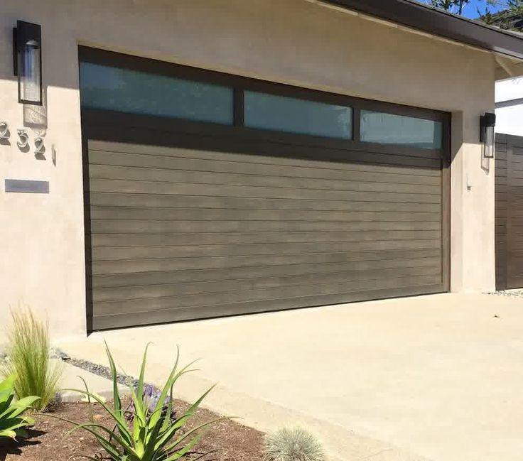mid century modern garage door modern garage