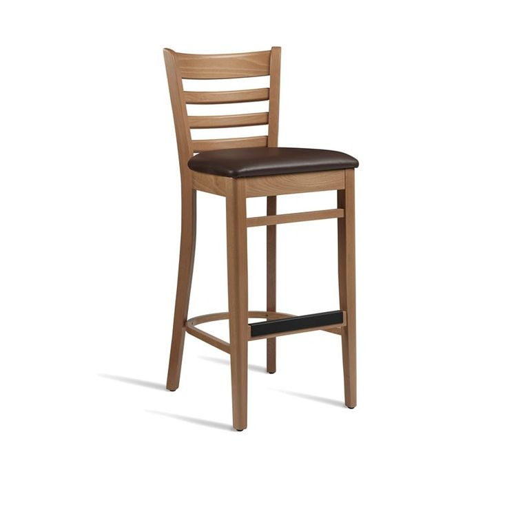 PLUS Bar Stool – ZA.494ST – Light Oak – Brown    Very sturdy bar stool  This comfortable bar stool is manufactured from solid beech, finished in light oak, with a dark brown, superior quality, faux leather seat pad.  Colour Light Oak – Brown Dimensions Height 113cm, Width 44cm, Depth 50cm, Seat Height 75cm Weight 12kg