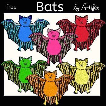 Bats clip art. Free!