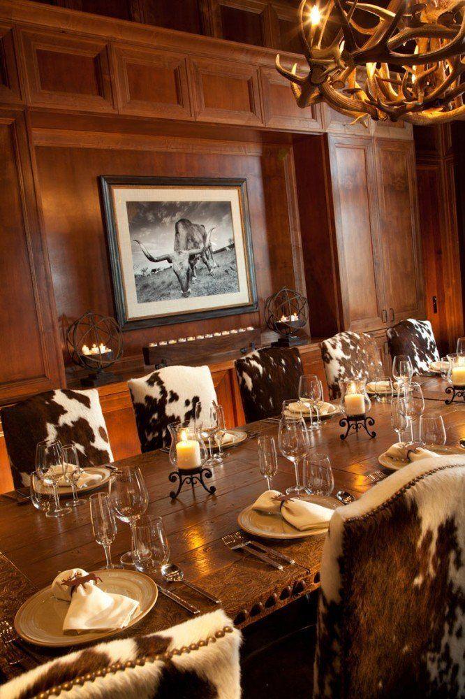 We are designing cowhide dining chairs similar to these for the Big Cypress Lodge by the Bass Pro Shop in Nashville. If you'd like some too contact carole@rusticartistry.com
