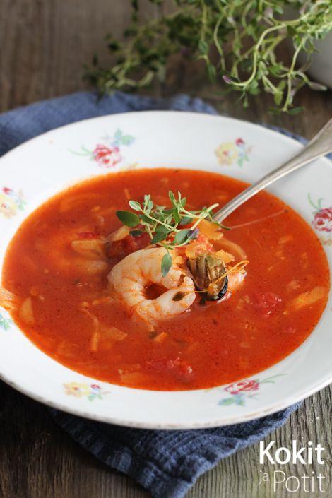 Kokit ja Potit: Cioppino - tomaattinen kala-äyriäiskeitto