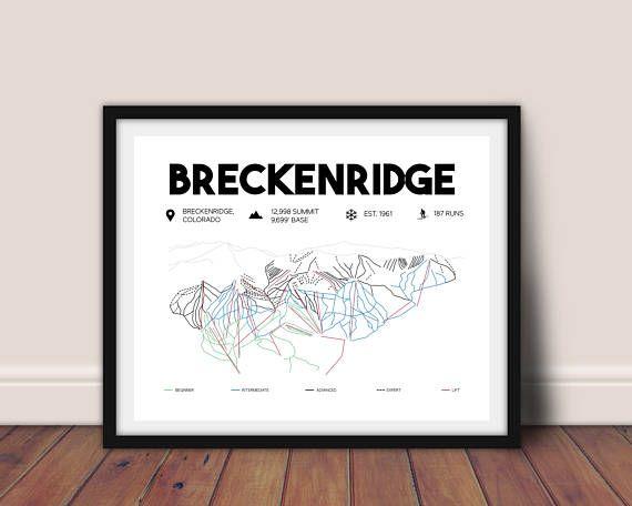 Breckenridge Colorado Printable Ski Map