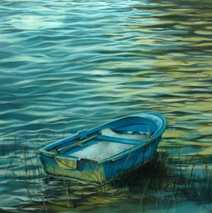"""Artista Patricia Valor. """"cuando cae el sol"""" oleo 60 x 60cm"""