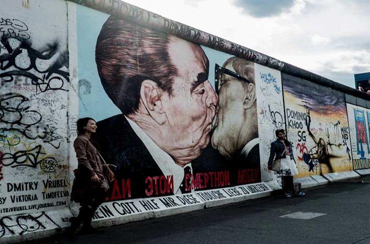 Almanya'nın başkentindeki Berlin Duvarı