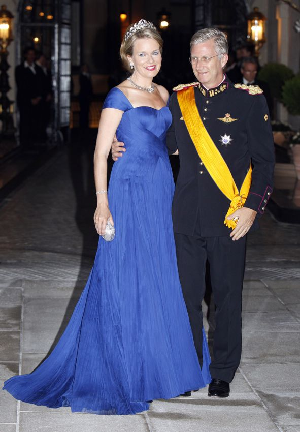 Felipe y Matilde de Bélgica en la cena previa a la boda real de Guillermo de Luxemburgo