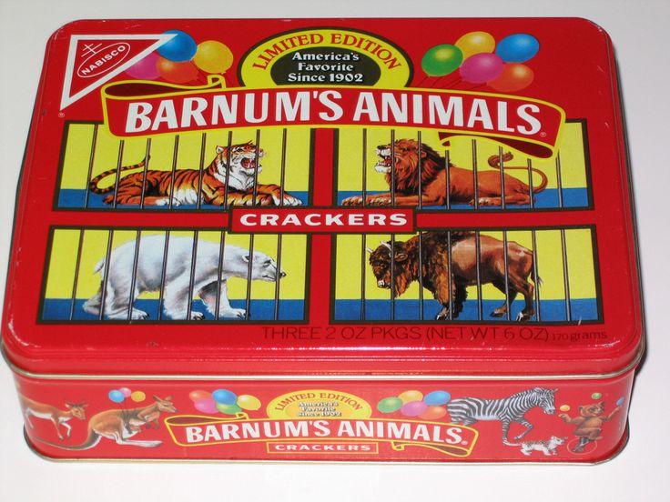 "VERY RARE 1989 ""LIMITED EDITION NABISCO BARNUM'S ANIMALS CRACKERS TIN BOX"". WOW   eBay"