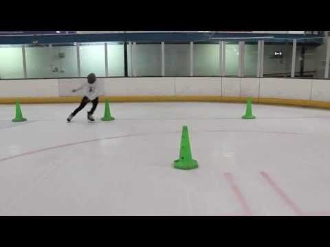 Ice Hockey Power Skating Speed Agility and Balance Drill - Pivot, Crossovers, Mohawk and Tight Turns - YouTube