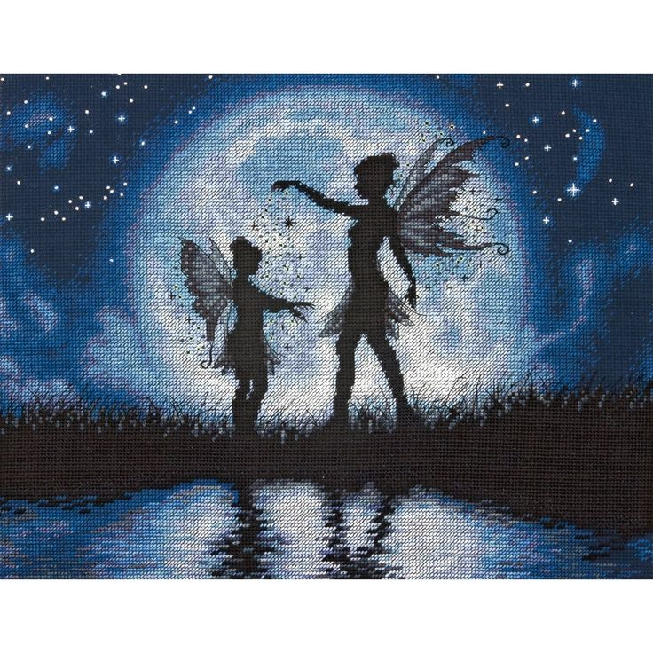 """Dimensions Twilight Silhouette Counted Cross Stitch Kit-14""""X11"""" 14 Count - 14""""x11"""" 14 count"""