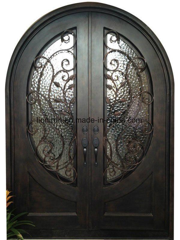 Hand Made Security Wrought Iron Double Door Screen Door China