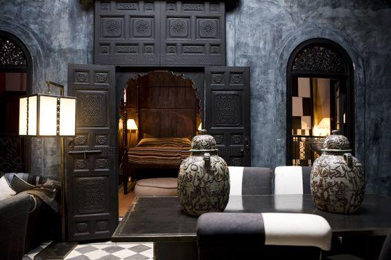 Blue Suite at the Riad Dar Darma, Marrakech, Morocco
