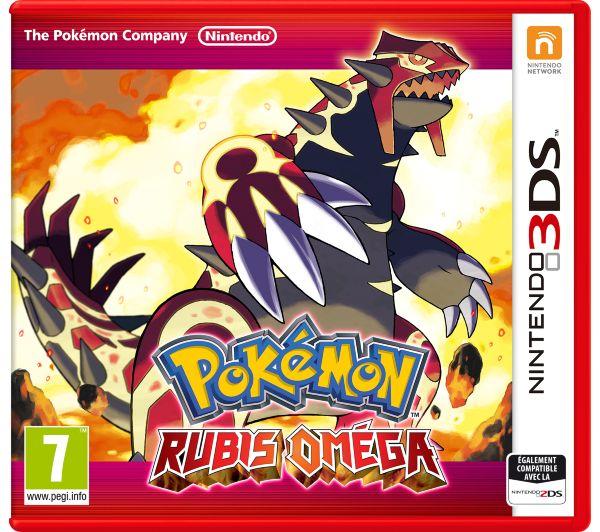Jeu 3 DS Pokemon Rubis Omega 33 euros chez carrefour