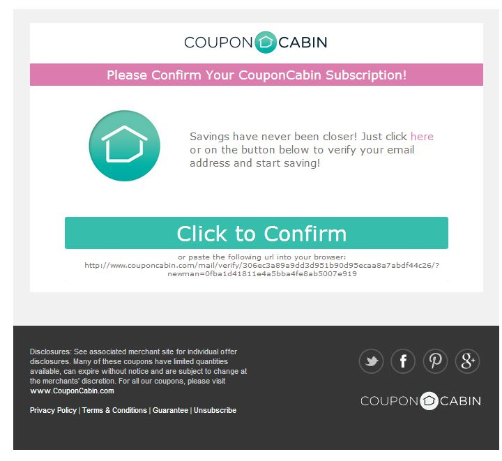 70 best welcome emails images on pinterest welcome for Coupon cabin app