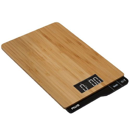 Digital Kitchen Scale 11lb x 0.1oz Bamboo AWS ECO-5K
