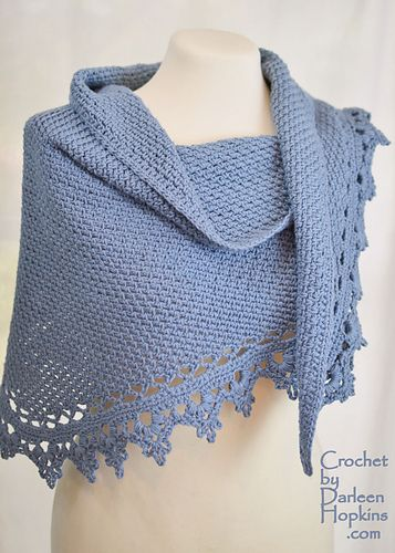 Ravelry: Black Raspberry Shawl, Shawlette, Scarf pattern by Darleen Hopkins