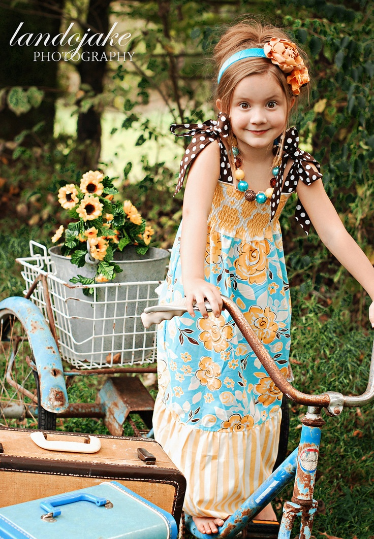 Fall Darjeeling Maxi Dress for girls 2T 8girls by bleubirddesigns, $40.00